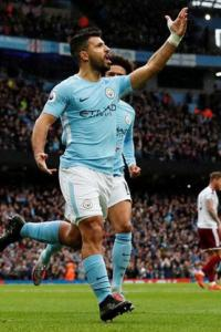 EPL Images: Aguero's milestone goal leads Man City to easy win