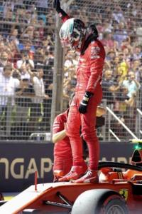 Leclerc stuns with pole hat-trick in Singapore