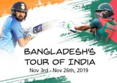 BANGLADESH'S TOUR OF INDIA 2019