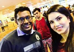 Spotted: Sunny Leone at Delhi airport