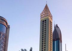 Living the high life! At 356 metres, this is the world's tallest hotel