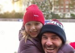 David Beckham, daughter get into Christmas spirit