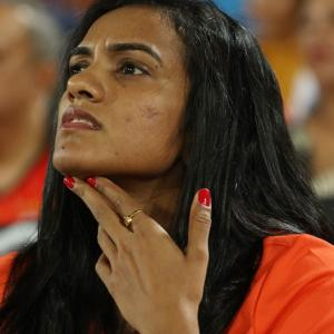 Spotted: Badminton ace Sindhu watching cricket
