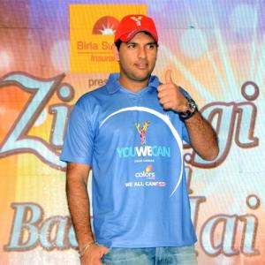 He's beaten cancer, but Yuvraj plans to keep fighting it