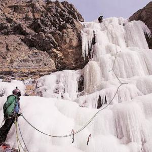 Dare to climb a frozen waterfall?