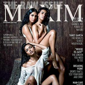 Three models, one cover! Say hello to India's hottest women