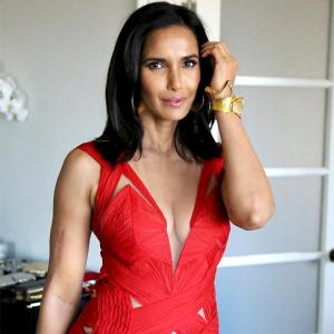 Padma Lakshmi's red gown has a secret message