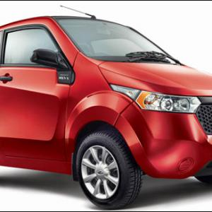 IMAGES: The Rs 5.96 lakh Mahindra electric car 'e2o'