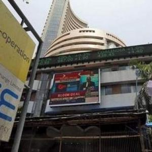 Sensex gains 55 points to close at over 1-month high
