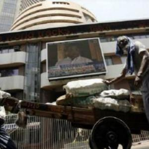 Sensex ends with a measly gain