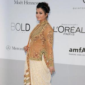 PIX: Aishwarya dazzles in a sari in Cannes
