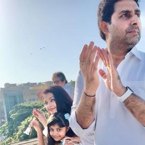 Videos: Sonam, Bachchans cheer COVID-19 heroes