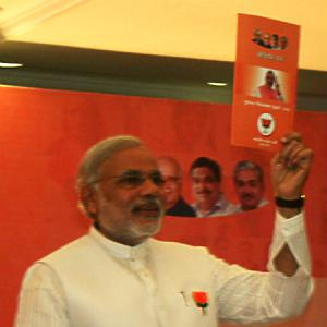 PIX: Modi's manifesto promises 50 lakh houses in 5 yrs