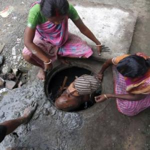 Manual scavenging -- a national shame