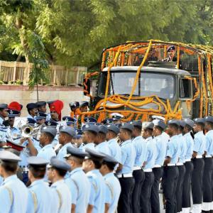 Marshal of IAF Arjan Singh cremated with full state honour