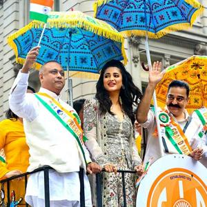 Kamal, Shruti, Viv add star power to New York's India Day parade