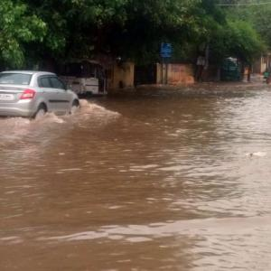 Heavy rains cripple Delhi-NCR; waterlogging disrupts traffic