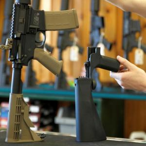Trump pushes for ban on rapid-fire gun 'bump stocks'