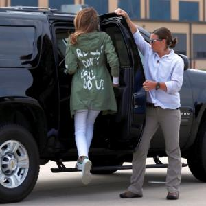 Melania's 'I really don't care' jacket on trip to migrant children sparks outage
