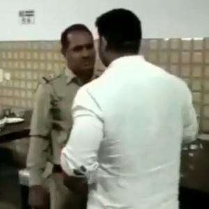 WATCH: BJP councilor thrashes police SI, arrested