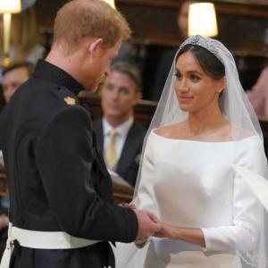 Meghan shares secret blue touch to her wedding dress