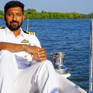 Indian Navy sailor rescued 3 days after his boat was damaged in storm