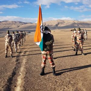 ITBP troops celebrate I-Day at 16,000 feet in Ladakh