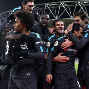 EPL PHOTOS: Chelsea cruise to victory, Burnley up to fourth