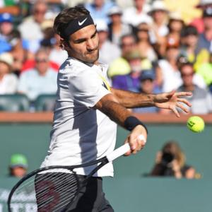 Indian Wells PHOTOS: Federer fends off Chardy; Halep in semis