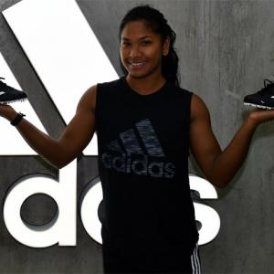 PIX: Adidas to Asian champion Swapna's rescue with customised shoes