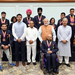 PM felicitates athletes on return from Asian Para Games
