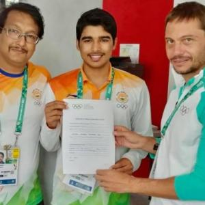 He is just 16 and donated gold-clinching pistol to IOC Museum