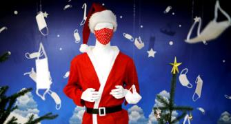 When SANTA wore a MASK...