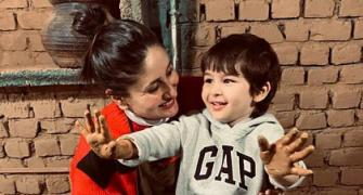 Taimur takes a pottery class with Kareena