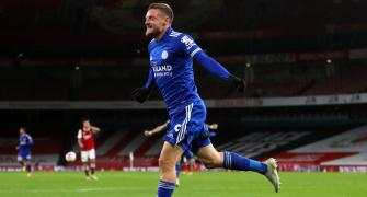 EPL: Vardy's late strike helps Leicester down Arsenal