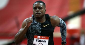 World 100m champion Coleman banned for 2 years