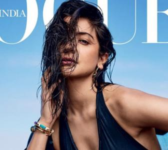 Anushka sizzles in a blue swimsuit