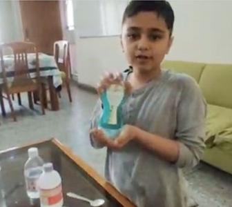SEE: 10 year old makes sanitiser at home