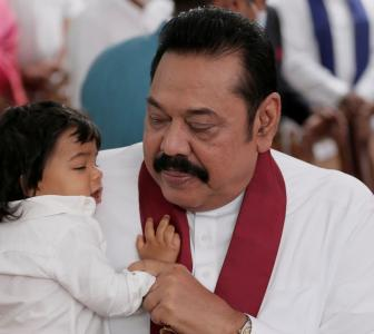 Mahinda Rajapaksa takes oath as Sri Lankan PM