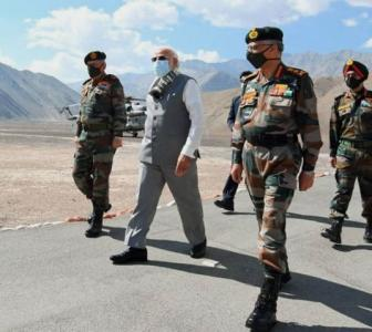 SEE: PM Modi reaches Leh, interacts with soldiers