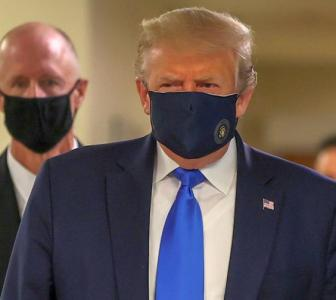 Trump wears face mask in public for 1st time