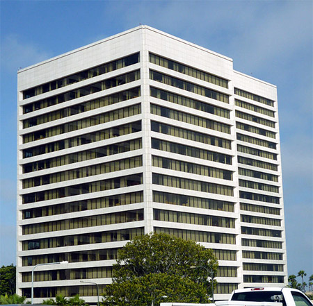 Headquarters of CB Richard Ellis at the Westwood Gateway office complex in Los Angeles.