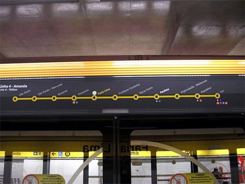 Line 4 of Sao Paulo's Metro.