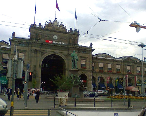 Zurich Hauptbahnhof.