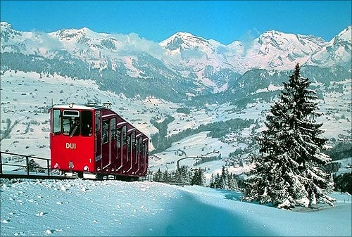Amazing cable railway rides in Switzerland