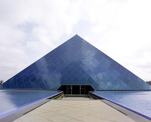 Infosys' pyramid-shaped building in Bangalore.