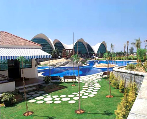 A swimming pool at Infosys' Bengaluru campus.