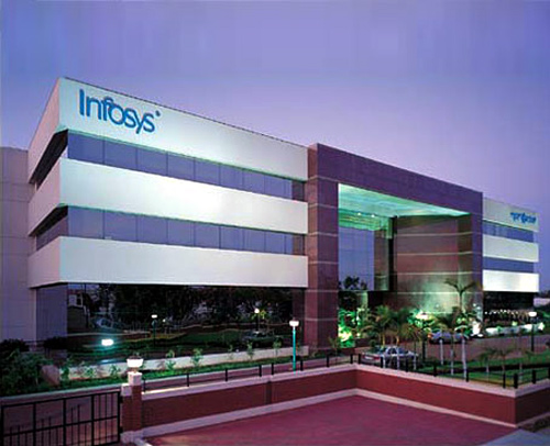 Corporate block at the Infosys campus.