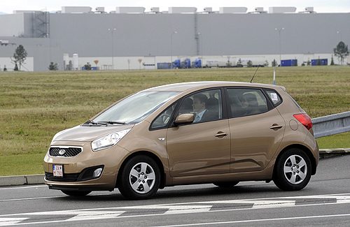 New Kia Venga car is seen at the Kia Motors Slovakia plant in Teplicka nad Vahom.