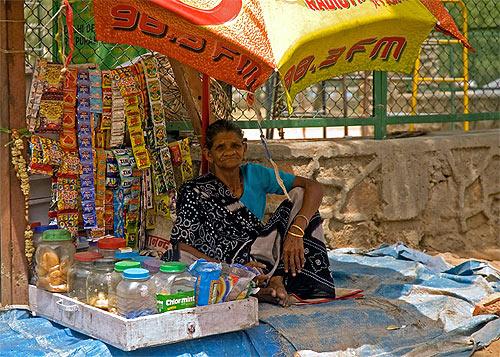 A gutka vendor.